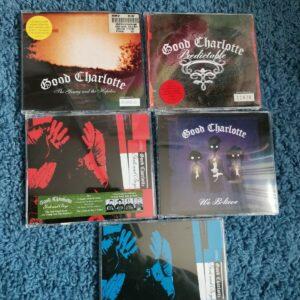 ¡Carteles y pegatinas de Good Charlotte 5x CD Singles Inc!  Números de edición limitada