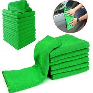10 * Toalla de microfibra para coche Toallas de limpieza Toallas suaves Accesorios para herramientas