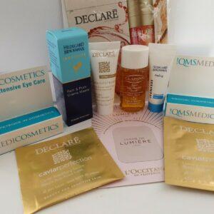 10 productos antienvejecimiento mixtos para el cuidado de la piel madura tamaño viaje - pamper goody bag