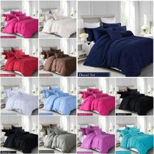 100% Brushed Fabric Duvet Quilt Cover Bedding Set Single Double King Super King