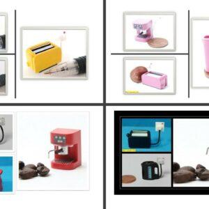 1:12 casa de muñecas selección de electrodomésticos de cocina modernos en miniatura para elegir.