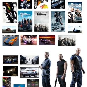 1:18 escala precortado Fast And Furious Garage poster pegatinas modelo de coche.  10