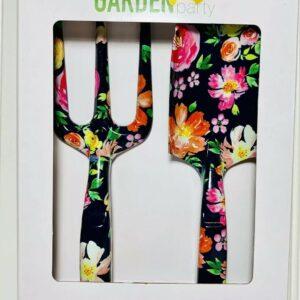 Garden Party Kit de herramientas florales de 2 piezas Juegos de herramientas para el hogar / jardín Equipo Negro NUEVO