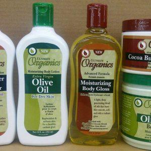 Manteca de cacao y manteca de karité de Ultimate Organics / Productos para el cuidado de la piel de oliva