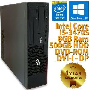 PC ORDENADOR DE ESCRITORIO RICONDIZIONATO E910 CORE i5-3470S RAM 8GB HDD 500GB WIN 10