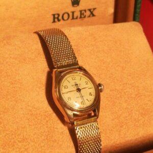 1947 año 100% original ROLEX OYSTER REF.  4271 SEÑORA ORO SOLIDO ORO CAL.  510