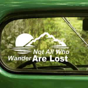 2 no todos los que vagan son calcomanías perdidas pegatina para ventana de coche parachoques portátil RV