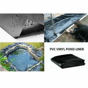 20X16.7Ft Membrana de revestimiento de estanque de peces al aire libre Equipo de suministros de jardinería para jardines