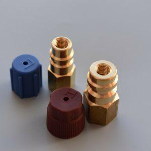 2x Kit de conversión de aire acondicionado de conexión de actualización de adaptador R12 en R134a
