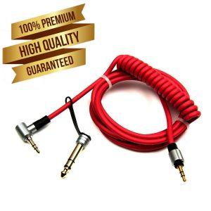 3,5 a 3,5 y 6,5 MM AUX Dr Dre Beats Cable de repuesto Red Pro Detox Headphones