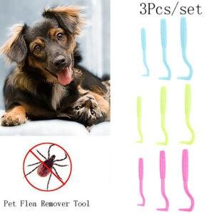 3pcs Herramienta de eliminación de Ick Suministros para mascotas Selector de garrapatas Herramienta de eliminación de pulgas Pet Com ~ QA