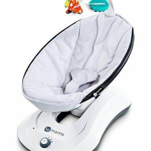 4moms RockaRoo Baby Soothing Rocker Swing Seat In Classic Grey