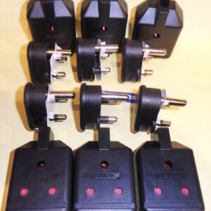 6 pares de clavijas y zócalos de cable de 15 A Permaplug Stage Lighting nuevo Pin redondo