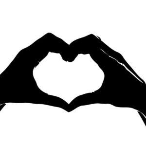 AMOR manos Igualdad amor libre todos bienvenidos vinilo calcomanía pegatina para parachoques portátil