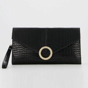 Accesorios Oficina Bolso Clutch Bonnie Wristlet Bolsos Y Monederos Negros