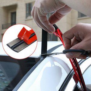 Accesorios de la etiqueta engomada de la tira de goma del aislamiento del ruido del sello del techo del parabrisas del coche de 2M