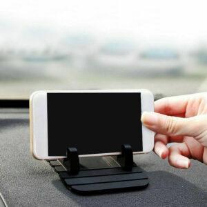 Accesorios del soporte del teléfono de la almohadilla del soporte del soporte del soporte de goma del tablero del coche negro antideslizante