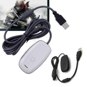 Adaptador de receptor USB inalámbrico para juegos de PC con ventana para el controlador Microsoft XBOX 360