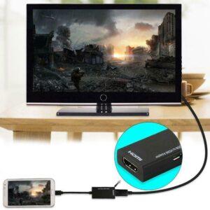 Adaptador universal MHL Micro USB a HDMI Cable HD 1080P para teléfonos Android