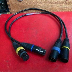 Adaptadores de cable de audio de iluminación XLR x2