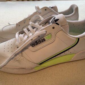 Adidas Originals Mujer Zapatillas De Moda De Cuero Blancas Talla Uk 3