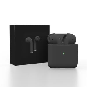 AirPods 2 con estuche de carga inalámbrica Auriculares inalámbricos Bluetooth Negro