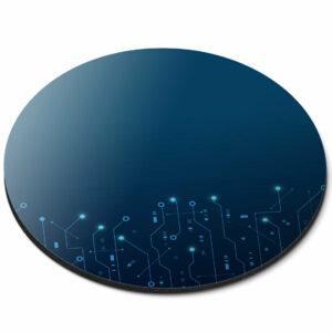 Alfombrilla redonda para ratón - Tarjeta de circuitos Electrónica Computadora Oficina Regalo # 21357