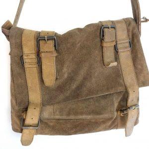 All Saints Drift Suede Messenger Brown Shoulder Laptop Satchel Bag Hombres Mujeres