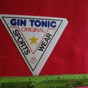 Alter Aufkleber GIN TONIC Ropa deportiva original