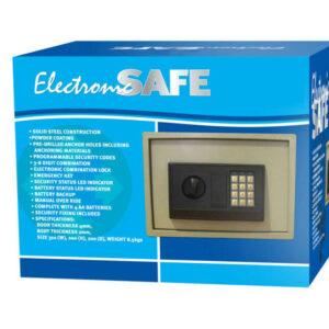 AuraSecure Electronic Home Office Caja fuerte de acero digital para dinero en efectivo