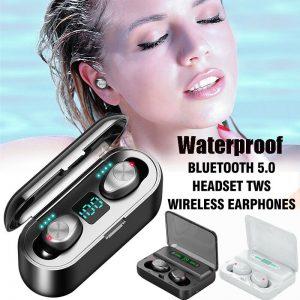 Auriculares Bluetooth 5.0 TWS Auriculares inalámbricos Auriculares gemelos Auriculares estéreo IPX7