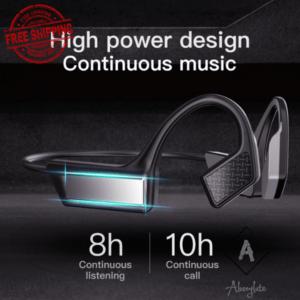 Auriculares de oreja abierta inalámbricos Bluetooth 5.0 de conducción ósea resistentes al sudor K08