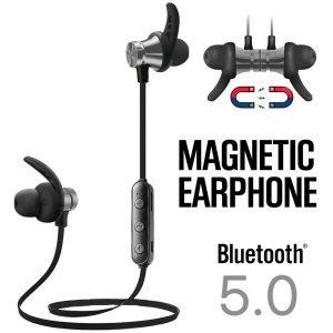 Auriculares deportivos inalámbricos magnéticos con Bluetooth para gimnasio, a prueba de sudor