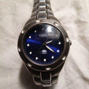 Azul fósil.  Reloj de pulsera