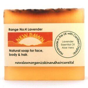 BARRA DE JABÓN DE LAVANDA - New Dawn Productos orgánicos hechos a mano para el cuidado de la piel y el cabello veganos