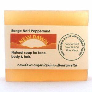 BARRA DE JABÓN DE MENTA - New Dawn Productos orgánicos hechos a mano para el cuidado de la piel y el cabello veganos