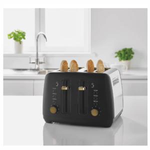 Black Gold Kettle Juego de tostadora de 4 piezas Electrodomésticos de cocina Muebles para el hogar Eléctrico