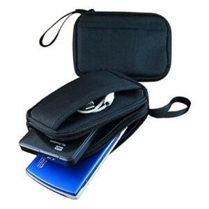 Bolsa de electrónica para 2 unidades de discos duros portátiles HDD SSD y teléfono móvil