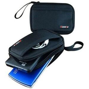 Bolsa de viaje con organizador para 2 unidades de discos duros portátiles, cables, teléfono móvil