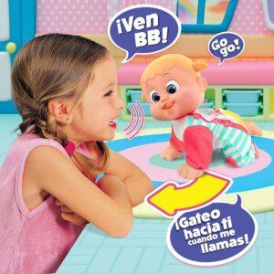 Bouncing Babies Ven con mamá Baniel Muñeco gatea cuando hablas Juguete Niña Niño