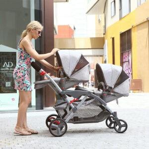 CARRITO  Gemelar Two Babies calidad precio mellizos plegable bonito