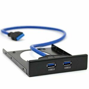 CSL - Panel frontal USB 3.0 de alta velocidad para unidades de 3,5 pulgadas - hasta 5 Gbit s - PC