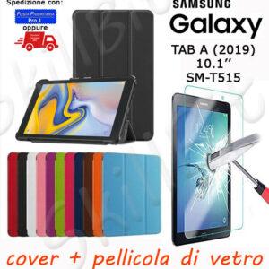 CUSTODIA COVER STAND PELLE PER SAMSUNG GALAXY TABLET TAB A 2019 SM-T515 10.1 + VET