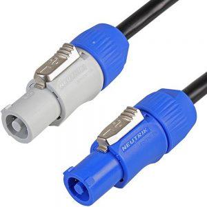 Cable de alimentación Neutrik PowerCON Link de 2 m y 3 núcleos - Cable para equipos de iluminación / altavoces DMX