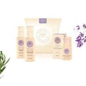 Caja de regalo de productos naturales para el cuidado de la piel - Kit facial calmante y equilibrante
