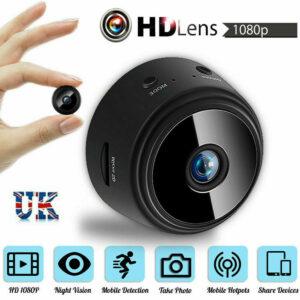 Cámara de seguridad para el hogar Espía Mini 1080P WiFi inalámbrico Cámara IP magnética CCTV