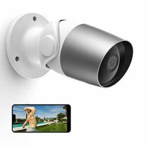 Cámara de seguridad para exteriores, cámara inalámbrica para el hogar Laxihub O1, 1080p WiFi