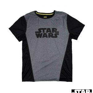Camiseta deportiva Star Wars Active Wear (schwarz / grau) XL
