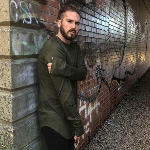 Camiseta larga de Streetwear para hombre, manga larga, de gran tamaño, a la moda, nuevo Hipster