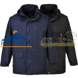 Chaqueta con forro polar para hombre Impermeable Portwest Work Wear Abrigo Invierno Cálido al aire libre